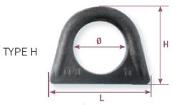 forged weld-on hoist rings h type