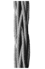 Braided galvanized steel cable - Non-rotating - Cable grip manufacturer Gattegno