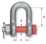 Alloy galvanized dee shackle with pin - Gattegno