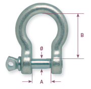 Bow shaped galvanized shackle - Gattegno
