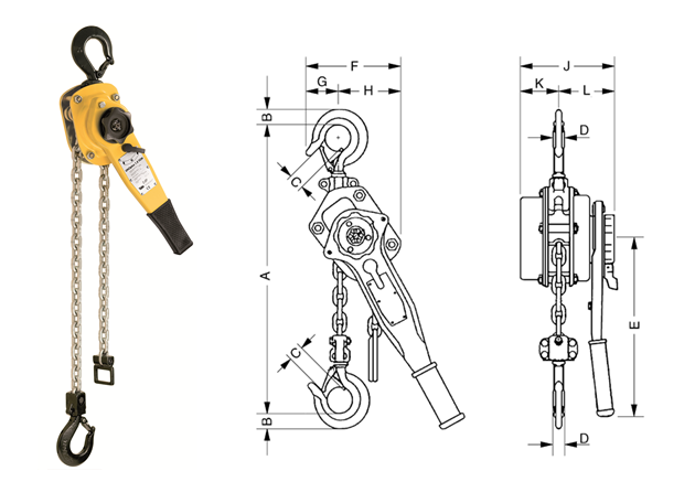 Hoist lever for punctual use - Lifting accessories