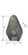 Floor plate pulley - Pulley range Gattegno