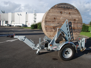 Model Gatt 2400  - Cable drum trailer