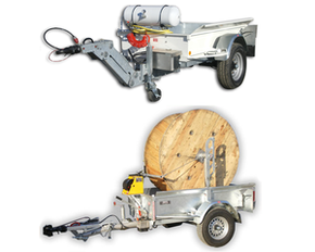 Gatt 200 cable drum- Cable pulling trailers